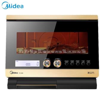 美的(Midea)電子レンジ電気蒸し器オーブン三合一蒸し器オーブン蒸し器32 L家庭用デスクトップコンバートミニ蒸し焼き一体機
