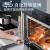 微蒸オーブン一体機家庭用卓上象眼式電子レンジ一体式多功能大容量40 L蒸焼一体機埋め込み(黒)